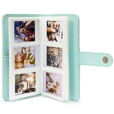 Fujifilm instax Çizgili mini Film Uyumlu Açik Mavi 108'li Dikdörtgen Albüm Renkli
